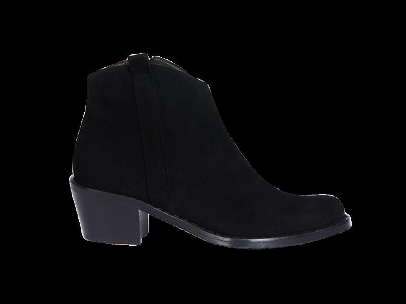 Western-Stiefelette in schwarz