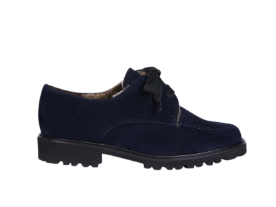 Lace-up loafer with lambskin lining